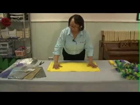 Making Wreaths From Plastic Tablecloths You - How To Make A Plastic Tablecloth Wreath