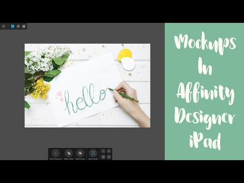 Two Ways To Create Mockups In Affinity Designer IPad