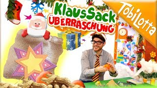 Überraschung DIY Klaus Sack   Advent basteln   Kinderfilme   Kinderkanal TobiLotta 143