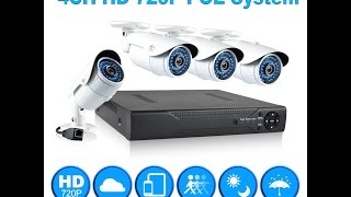 JOOAN 4CH 720P POE Security Camera System Installation and Remote Access on XMeye app