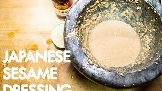 Japanese Sesame Dressing By The Fat Kid Inside