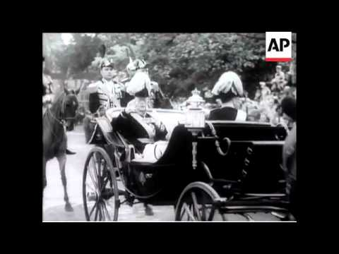 King Gustav of Sweden Celebrates 90th Birthday - 1948