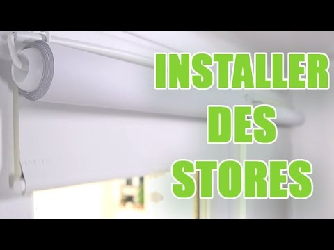 poser des stores int rieurs roulants sur les battants de fen tres diy by youmakefashion youtube. Black Bedroom Furniture Sets. Home Design Ideas