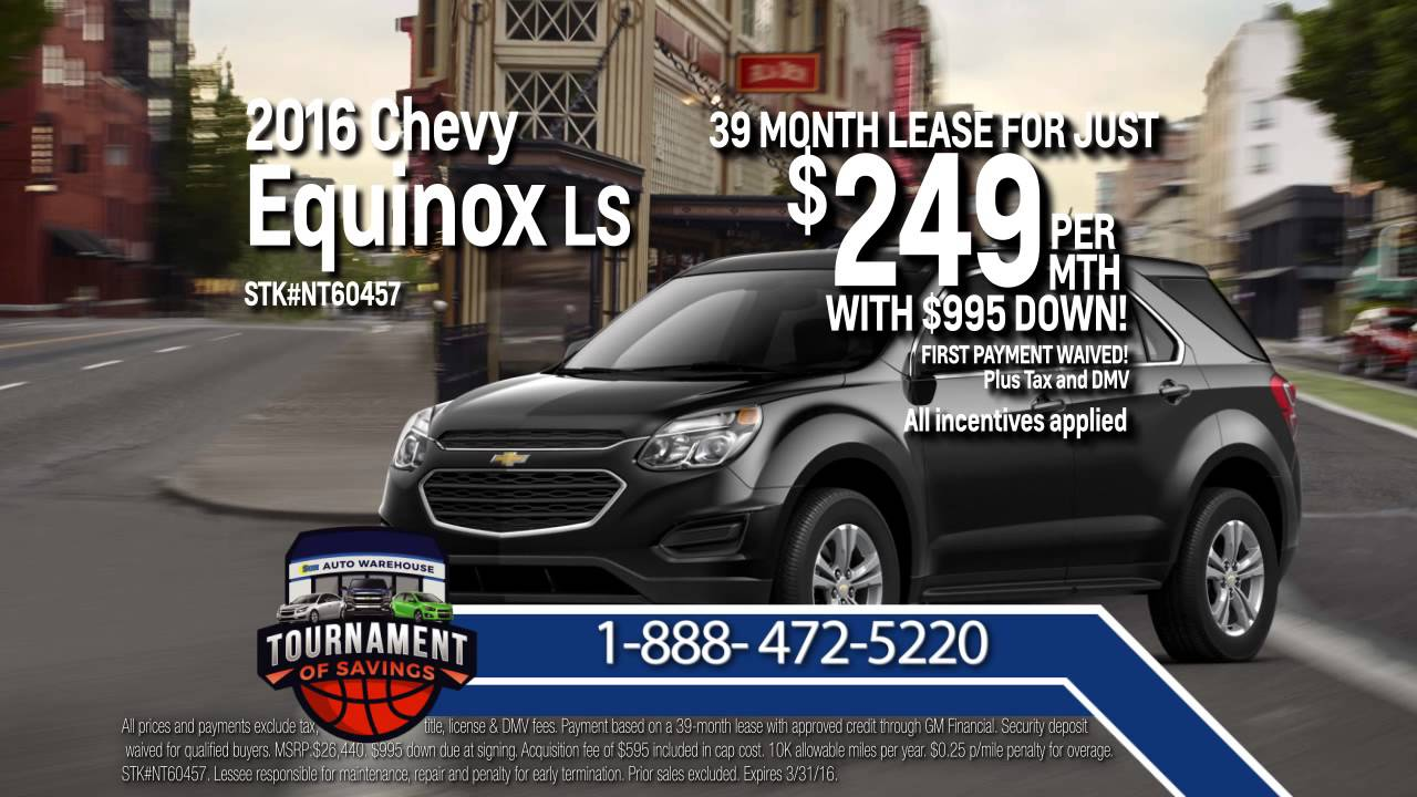 How Much Is Equinox Per Month >> Lease A 2016 Chevy Equinox For Just 249 Per Month Youtube