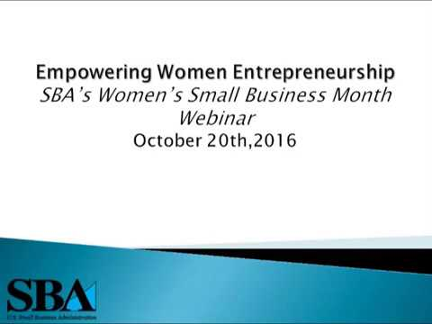2016 Women's Small Business Month Webinar (Archived)