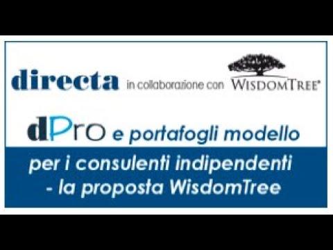 dPro e portafogli modello per i consulenti: la proposta WisdomTree
