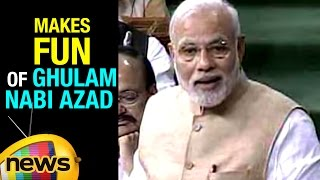 PM Modi Counter thrash On Congress | Makes Fun Of Ghulam Nabi Azad | Rajya Sabha | Mango News