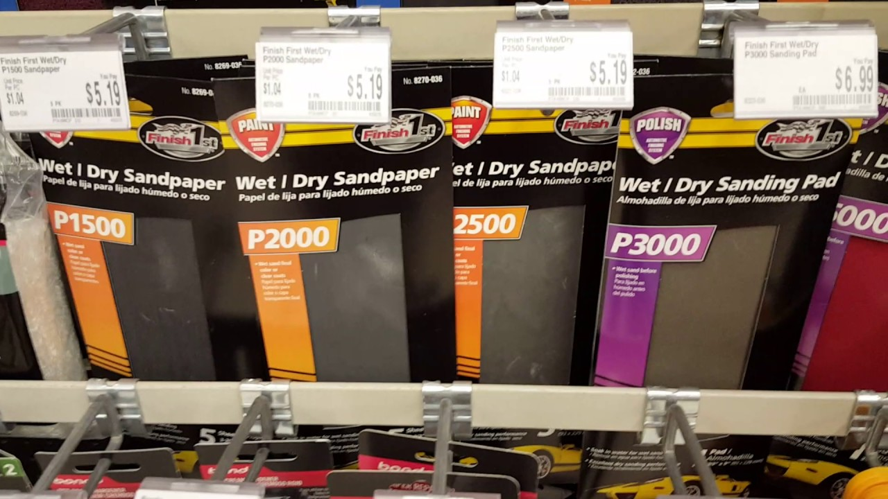 AutoZone carries 2000 grit, 2500 grit, 3000 grit, and even 5000 grit