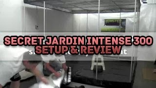 Secret Jardin Intense 300 Setup & Product Review | How To Setup Grow Tent SilverBox Silver Box