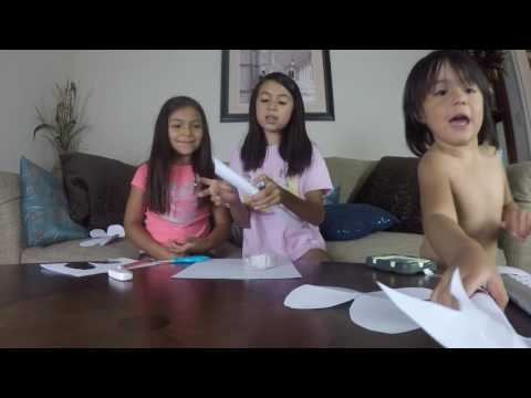 How to make FAIRY WINGS and WANDS out of PAPER! & Pebbles at 4:30!!