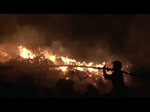 MNSKHM: Рятувальники ліквідували масштабну пожежу тюків із промисловою коноплею
