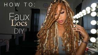 How To Faux Locs DIY | Bellas Beauty