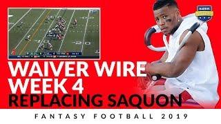 Week 4 Fantasy Football 2019 Waiver Wire Replacing Saquon