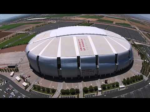 Drone over University of Phoenix Stadium