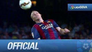 Detalles de cabezazos en el FC Barcelona - SD Eibar