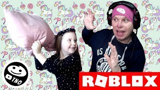PILLOW WAR! Pillow Fight Simulator 2018 | Roblox | Daddy and Barunka CZ/SK