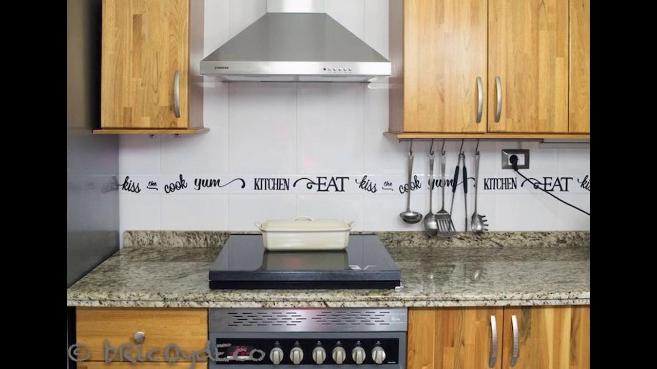 Cocinas con cenefas youtube - Limpiar baldosas cocina ...