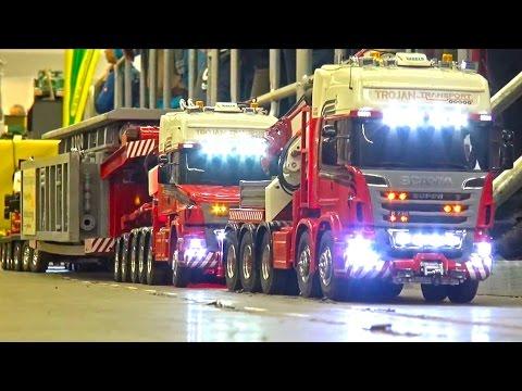 Heavy Haulage RC Truck Transport EXTREME - Demag Crane 1200 - Loading Power Block -