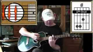 Sitting On The Dock Of The Bay - Otis Redding - Acoustic Guitar Lesson (easy - ish)
