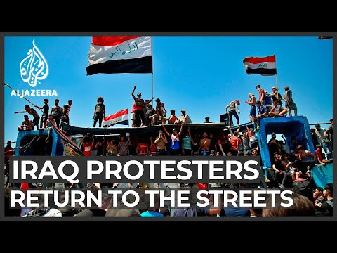 Hundreds gather in Baghdad in new round of anti-gov't protests