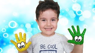 PARMAK BOYALARIYLA OYNADIK | Learn Colors with Finger  Paint
