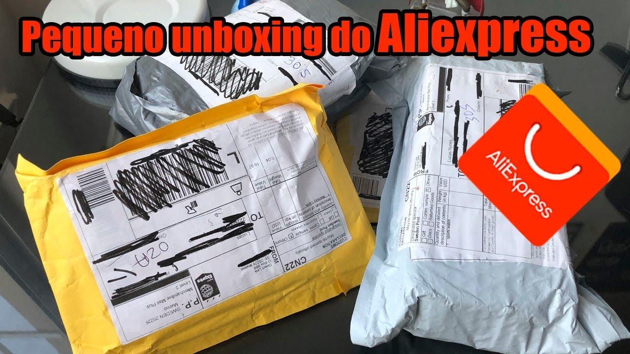 unboxing de produtos importados do Aliexpress sem taxas
