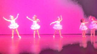 4 year old girls ballet dancing to Somewhere Over the Rainbow