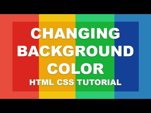 Changing background color - html css tutorial