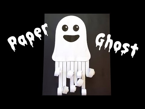 How to Make a Paper Ghost - Halloween Crafts for Kids