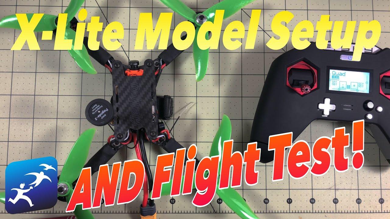 FrSky Taranis X-Lite New Model Setup and Test Flight | Same RSSI as the X9D?
