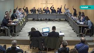 Ajuntament de Calafell: sessió plenària ordinària, 6 de novembre de 2017