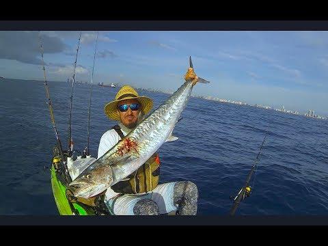 Kayak Fishing, Miami Beach....56 Lb Total Weight