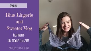 New Blue Lingerie and Sweater Vlog - ASMR Style