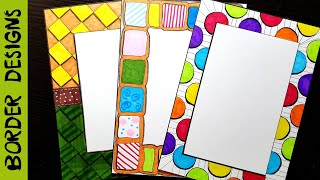 Colors   Border designs on paper   border designs   project work designs   borders for projects