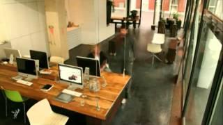 Heldergroen Design Studio - Cables Pull Desks Up After 6 pm