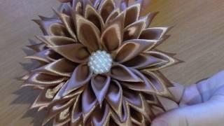 видео Волшебные цветы канзаши .