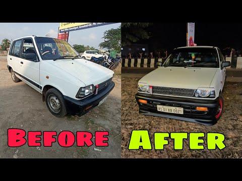 Maruti 800 Customized Bumper || My Car Upgrades || How To Make Bumper Lip ||