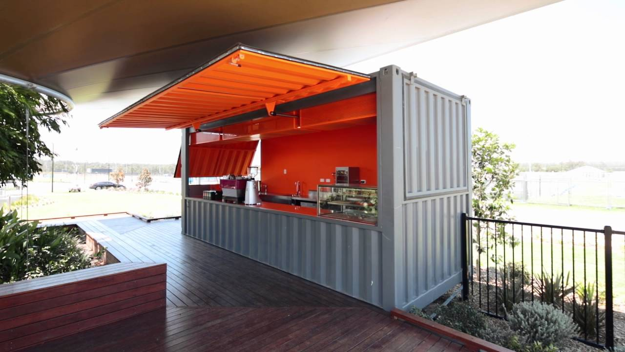 Desain Cafe Container Container Cafe - Youtube
