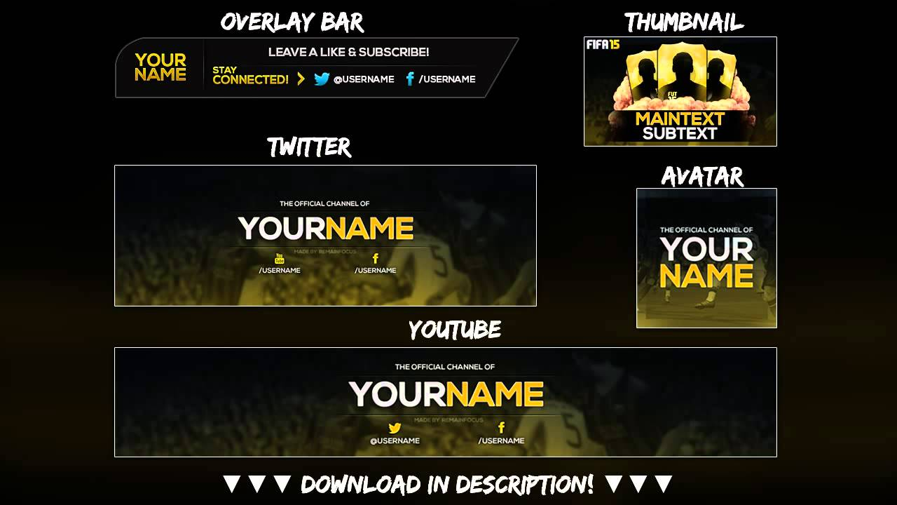 free full fifa rebrand template youtube twitter psd direct download link new 2015 youtube