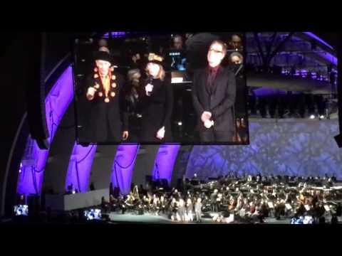 Paul Reubens, Catherine O'Hara and Danny Elfman as Lock, Shock, and Barrel