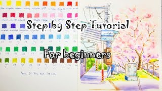 121】Watercolor Tutorial For Beginner【Arteza real brush pen set┃Lovely4u】