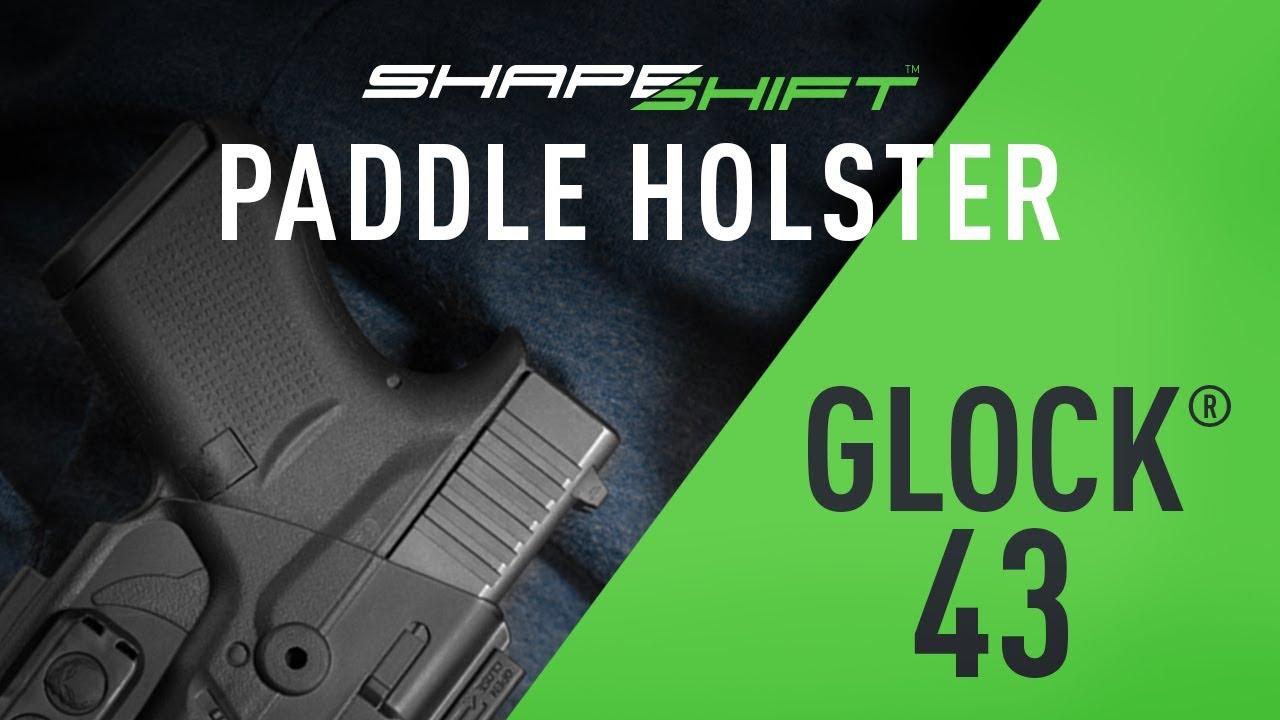 ShapeShift Glock 43 Paddle Holster OWB - Alien Gear Holsters