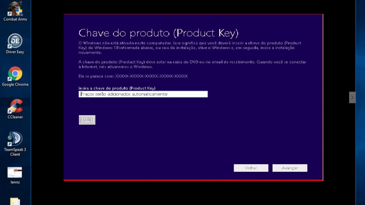 chave do ccleaner