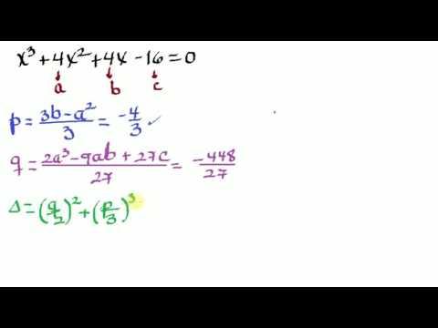 Método de Cardano para resolver Ecuaciones Cúbicas - YouTube