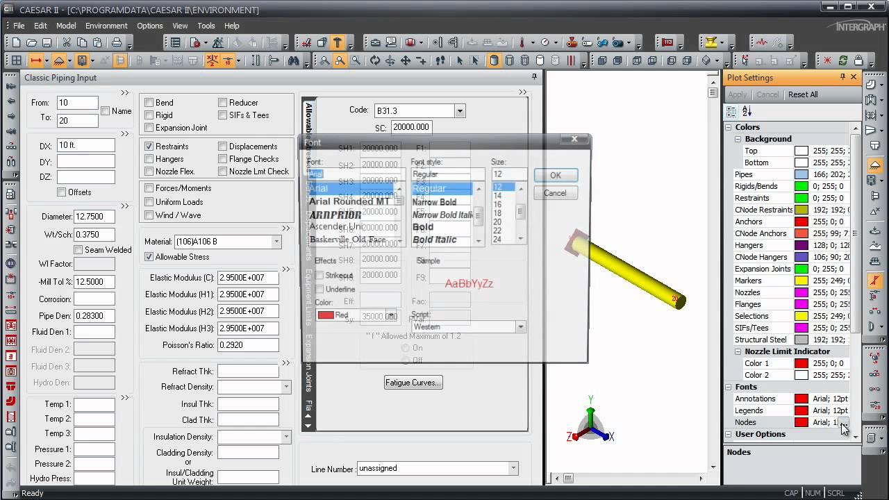 CAESAR II - Pipe Stress Analysis - Modifying the CAESAR II Environment