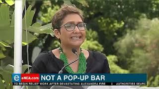 Not a pop up bar