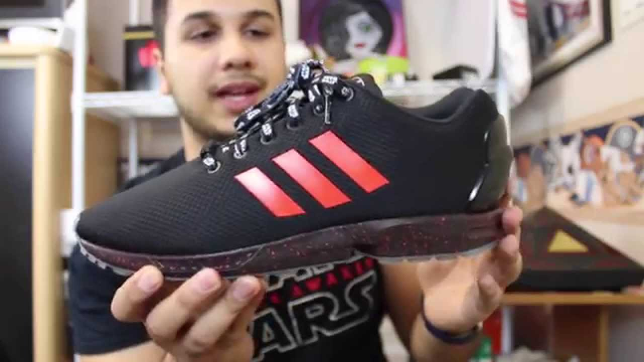 b79a2a4943127 Mi Adidas X Star Wars Darth Vader ZX Flux Review + On Foot - YouTube