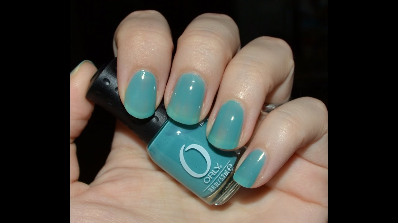 "Nail Colors Youtube: Swatch Orly ""Green With Envy"" Nail Polish"