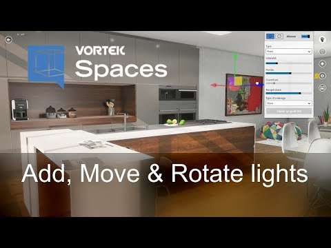 VORTEK Spaces New Feature - Lights: Add, Move & Rotate