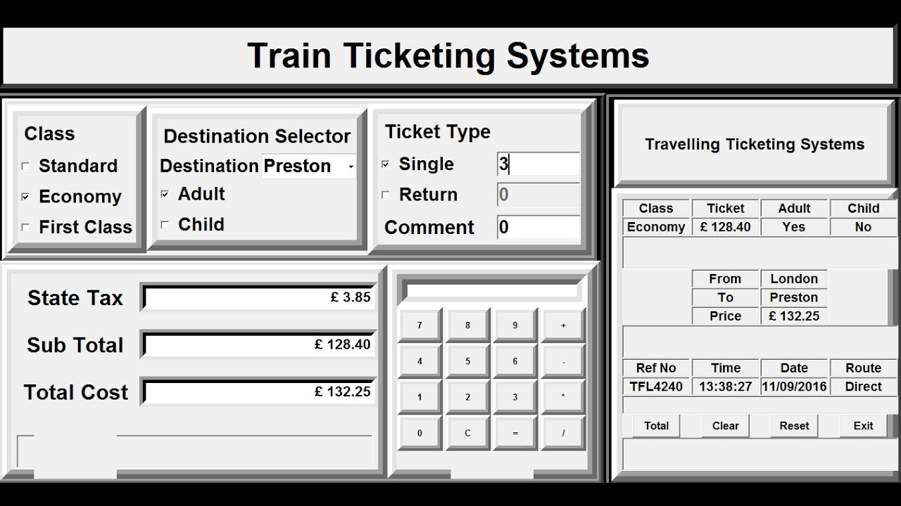 How to Create Train Ticketing Inventory Management System in Python - Full  Tutorial